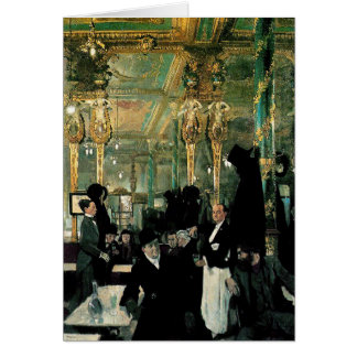 The Café Royal, London by William Orpen (1912) Greeting Card