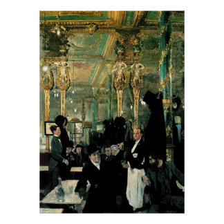 The Café Royal, London by William Orpen (1912) Posters