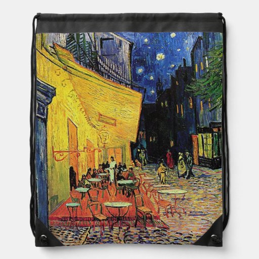 The cafe terrace on the place du forum, Arles, at Drawstring Bags