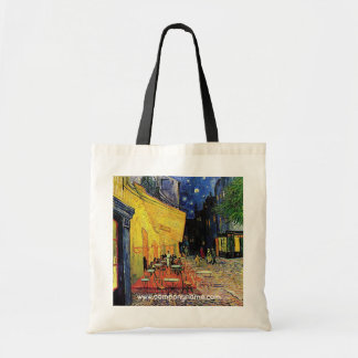 the cafe terrace on the place du forum Arles Tote Bags