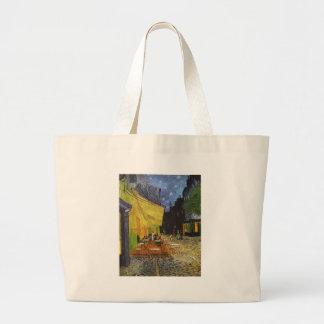 The Cafe Terrace on the Place du Forum Canvas Bags