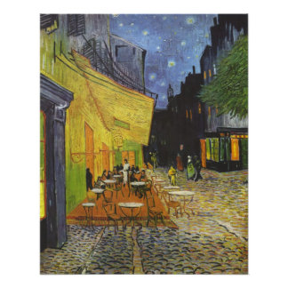 The Cafe Terrace on the place Du forum Poster