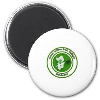 The calamita idiot it logo LED CISUSARDEGNA 6 Cm Round Magnet