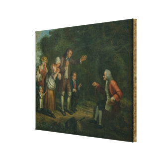 The Calas Family before Voltaire at Ferney Canvas Print