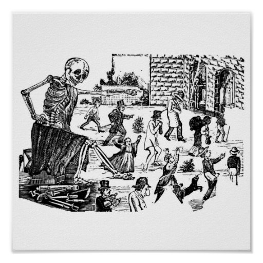 The Calavera General of the Graveyard Print