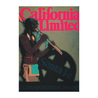 The California Limited Train Travel Poster Gallery Wrapped Canvas