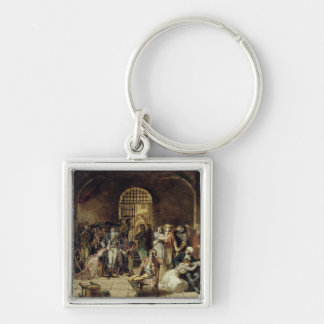 The Call for the Last Victims of the Terror 2 Silver-Colored Square Key Ring