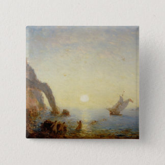 The Call of the Sirens (oil on canvas) 15 Cm Square Badge