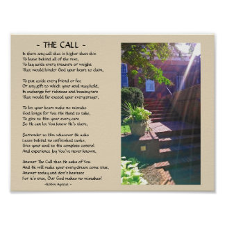 THE CALL POEM POSTER