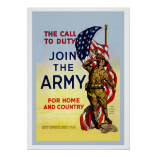 The Call To Duty-Join The Army Posters