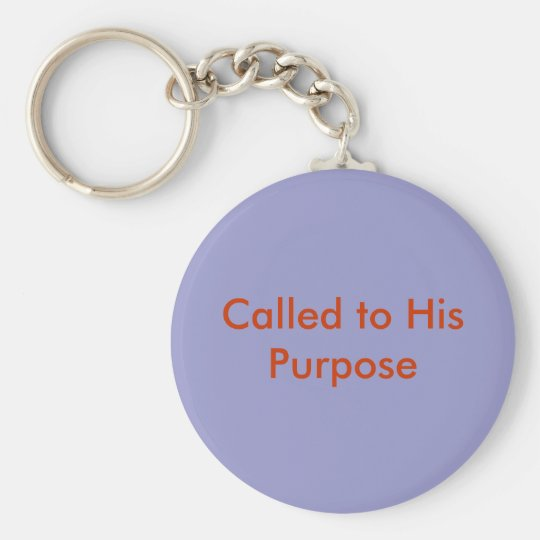 The called basic round button key ring