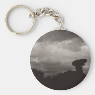 The Camel Rock Basic Round Button Key Ring
