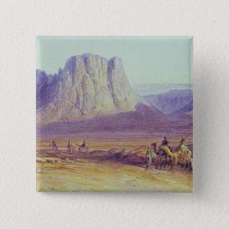 The Camel Train, Condessi, Mount Sinai, 1848 15 Cm Square Badge