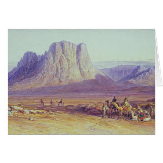 The Camel Train, Condessi, Mount Sinai, 1848 Card