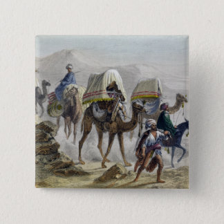 The Camel Train, from 'Constantinople and the Blac 15 Cm Square Badge
