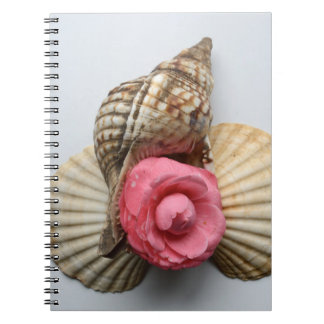 The Camellia And The Shells Spiral Notebooks