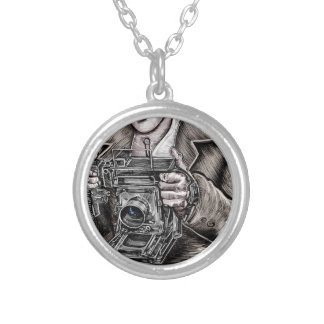 The Camera King Round Pendant Necklace