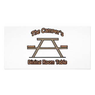 The campers dining room table photo card