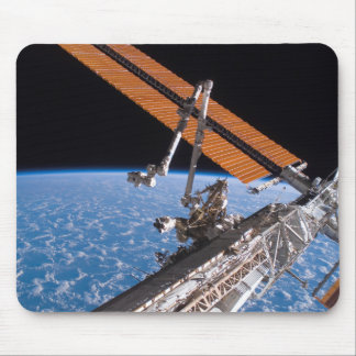 The Canadarm2 and solar array panel wings Mouse Pad
