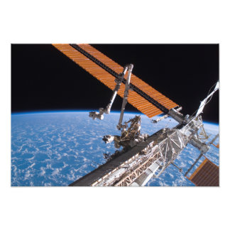 The Canadarm2 and solar array panel wings Photographic Print
