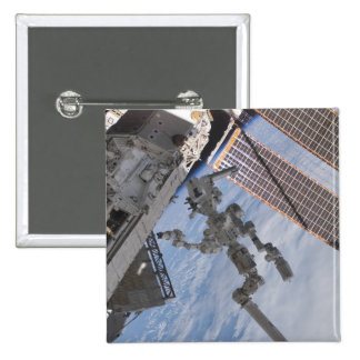 The Canadian-built Dextre robotic system 2 15 Cm Square Badge