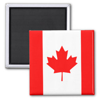 The Canadian Flag - Canada Souvenir Square Magnet
