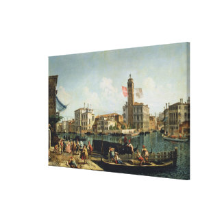 The Canal Grande and S. Geremia, Venice (oil on ca Stretched Canvas Prints