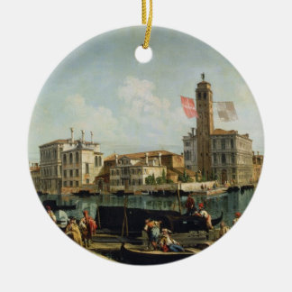 The Canal Grande and S. Geremia, Venice (oil on ca Christmas Ornament