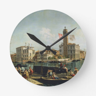 The Canal Grande and S. Geremia, Venice (oil on ca Round Clock