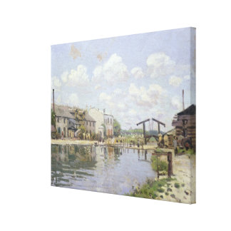 The Canal Saint-Martin, Paris, 1872 Gallery Wrapped Canvas