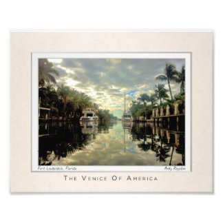 The Canals of Las Olas Photo Print