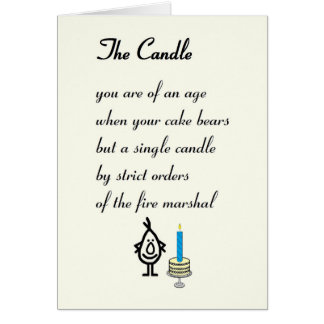 The Candle - a funny Birthday Poem Greeting Card