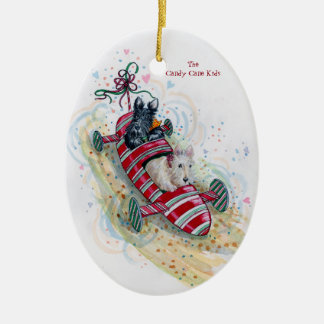 The Candy Cane Kids Scottie ornament