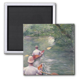 The Canoes, 1878 Square Magnet
