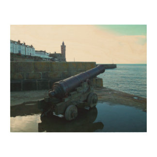 The Canon Porthleven Cornwall England Wood Wall Art