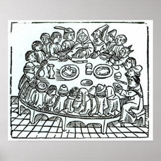 The Canterbury Pilgrims Poster