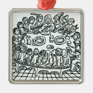 The Canterbury Pilgrims Silver-Colored Square Decoration
