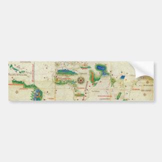 The Cantino Planisphere World Map (1502) Bumper Sticker