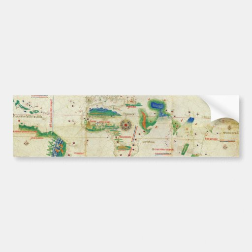 The Cantino Planisphere World Map (1502) Bumper Sticker