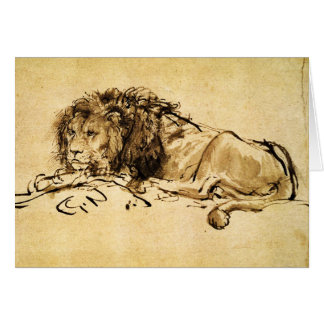 THE CAPE LION LYING DOWN CARD