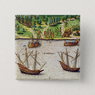 The Cape of Florida  and the Dolphin River 15 Cm Square Badge