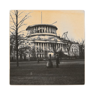 The Capitol Building in Washington D.C. Wood Coaster