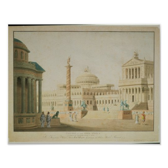 The Capitol, set design for 'Titus' Poster