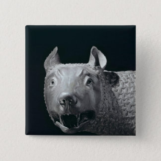 The Capitoline She-Wolf 15 Cm Square Badge