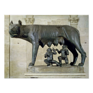 The Capitoline She-Wolf Print
