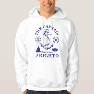 The Captain is always Right - Captain Funny - Navy Hoodie
