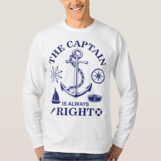 The Captain is always Right - Captain Funny - Navy T-Shirt