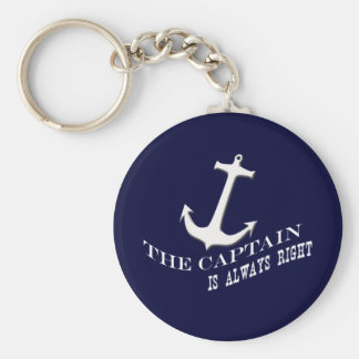the captain is always right key ring