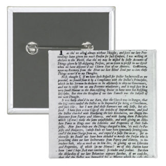 The Captain of the Mobs Declaration 15 Cm Square Badge