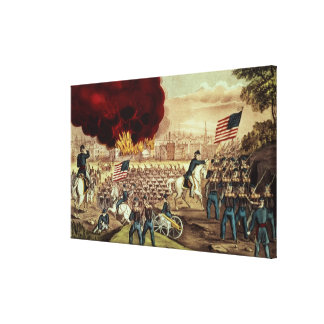 The Capture of Atlanta by the Union Army Stretched Canvas Print